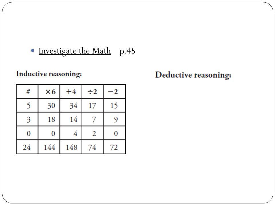 Investigate the Math p.45