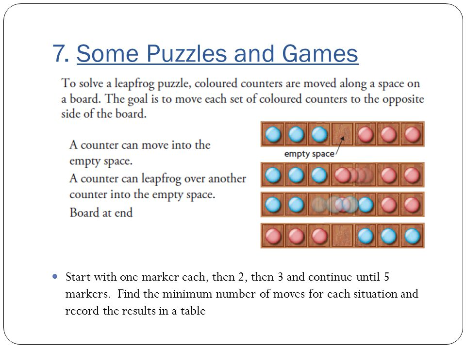 7. Some Puzzles and Games