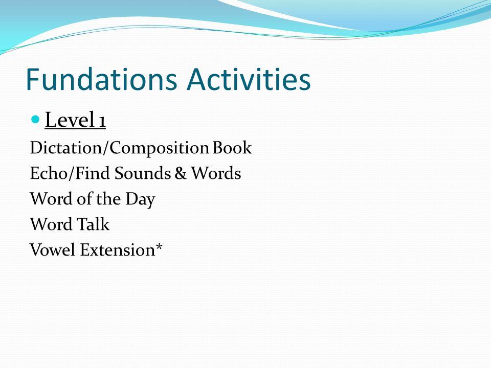 Fundations Activities