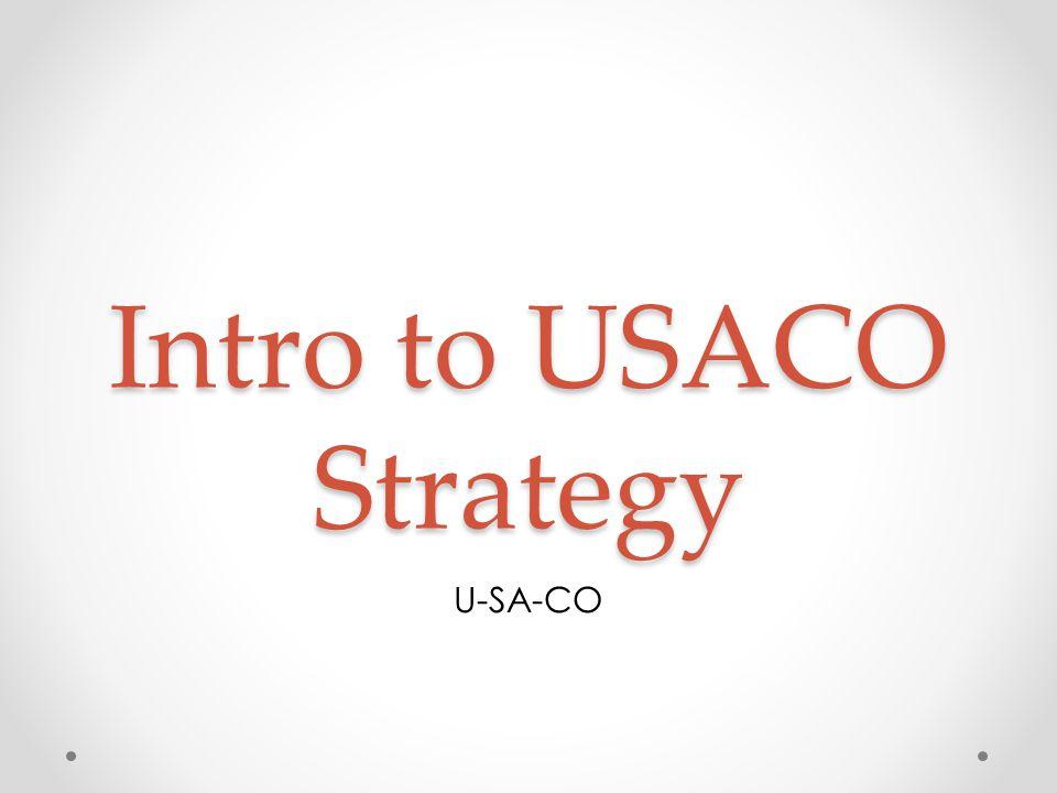 Intro to USACO Strategy