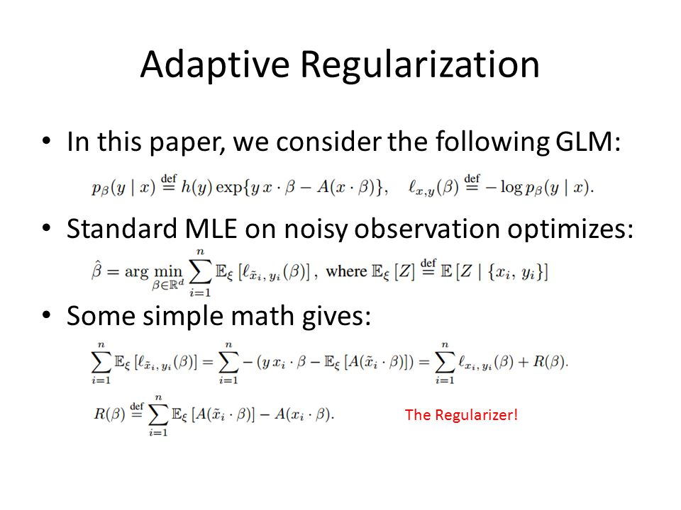 Adaptive Regularization