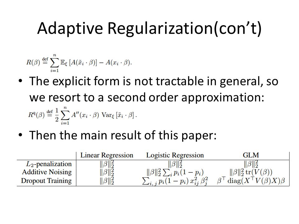 Adaptive Regularization(con't)