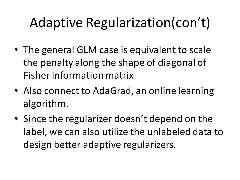 Adaptive Regularization(con't)