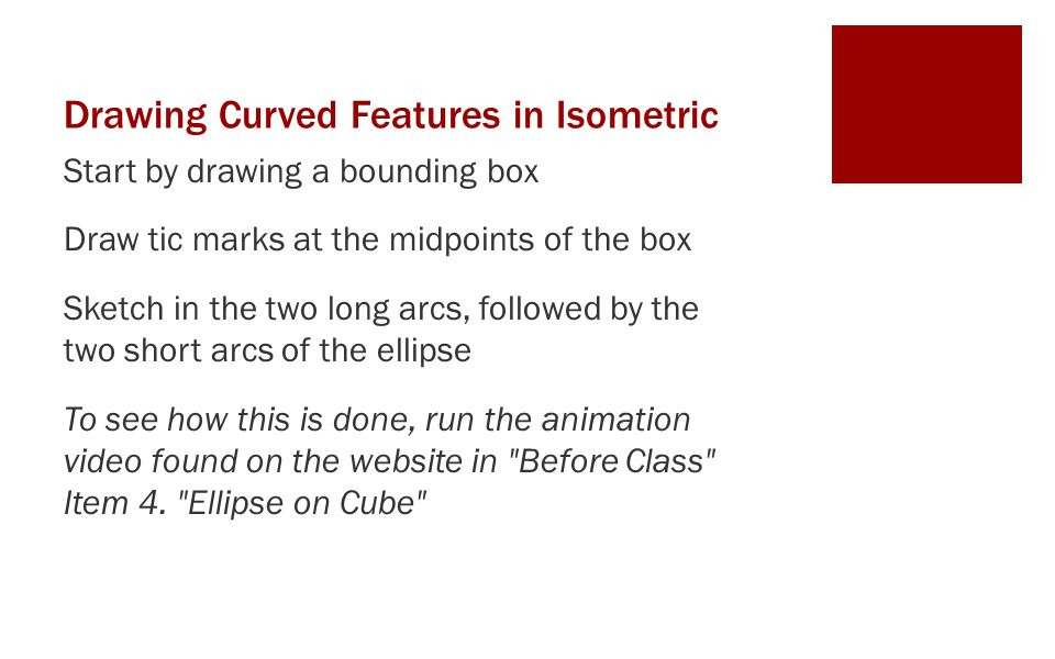 Drawing Curved Features in Isometric