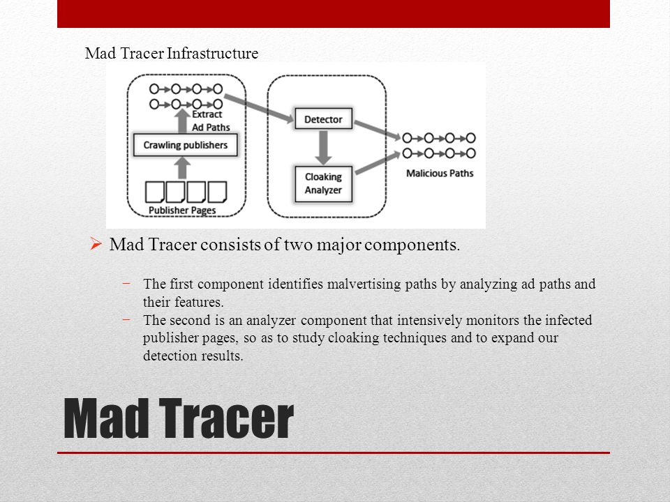 Mad Tracer Mad Tracer consists of two major components.