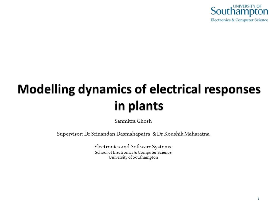 Modelling dynamics of electrical responses in plants