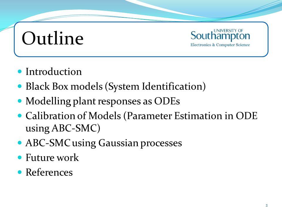 Outline Introduction Black Box models (System Identification)