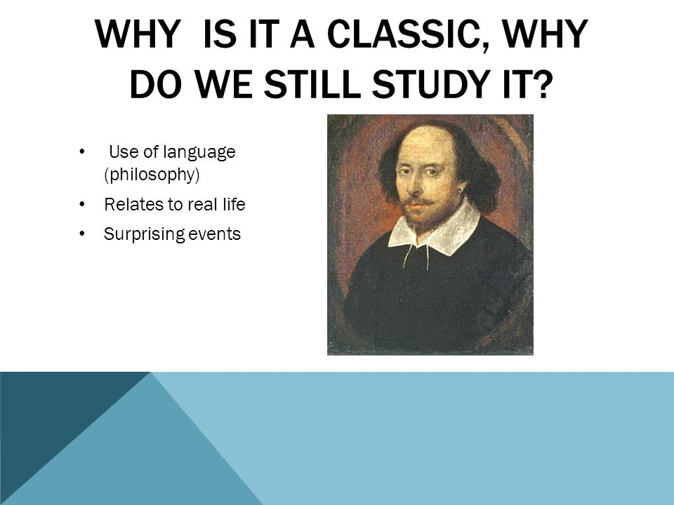 Why is it a classic, why do we still study it
