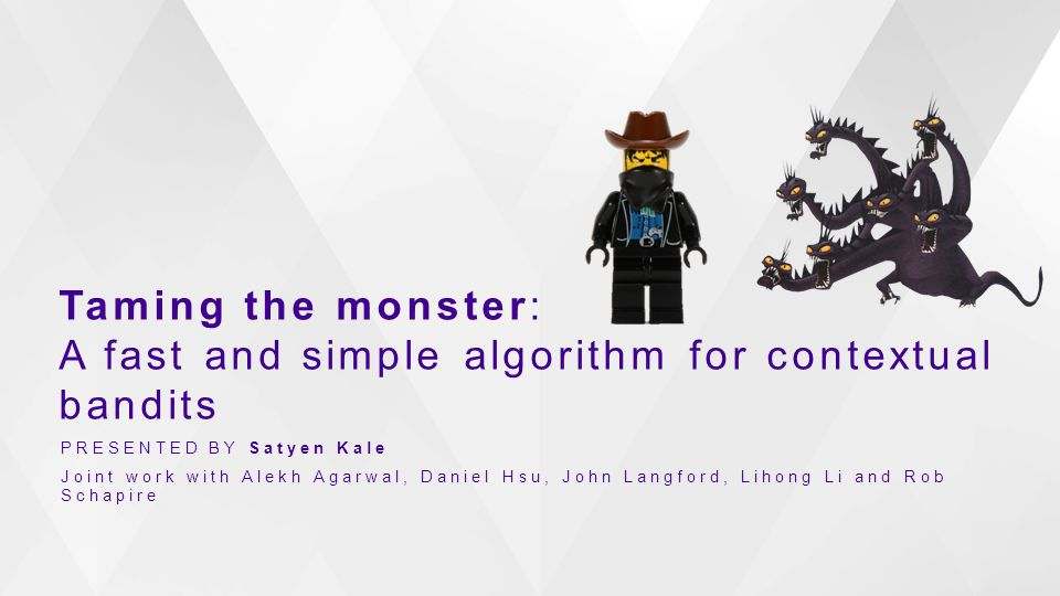 Taming the monster: A fast and simple algorithm for contextual bandits