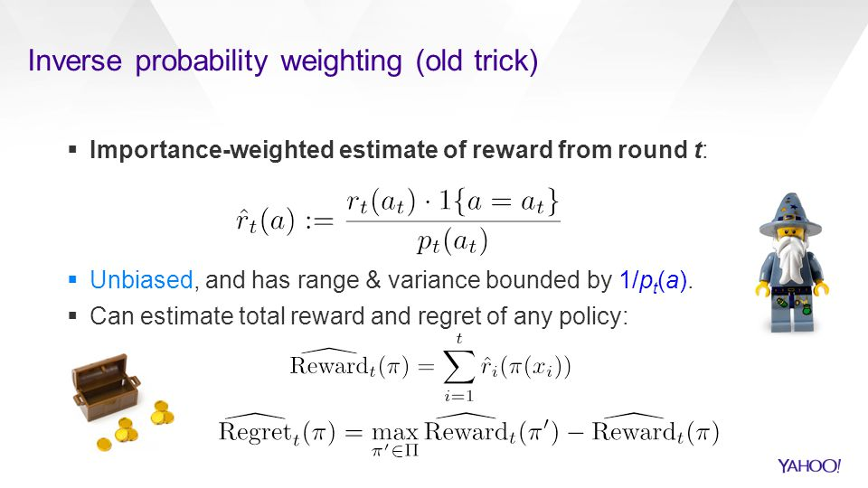 Inverse probability weighting (old trick)