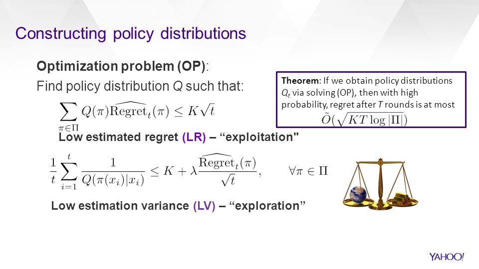 Constructing policy distributions