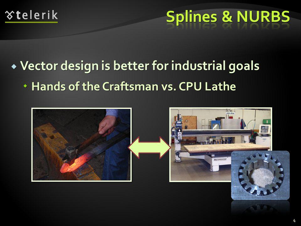 Splines & NURBS Vector design is better for industrial goals
