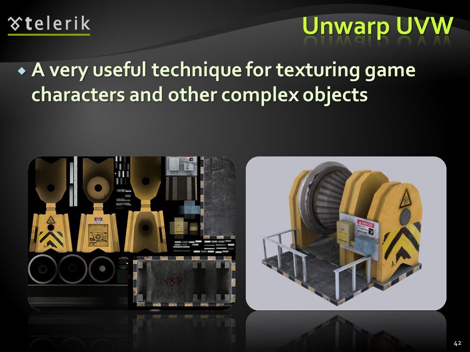 Unwarp UVW A very useful technique for texturing game characters and other complex objects