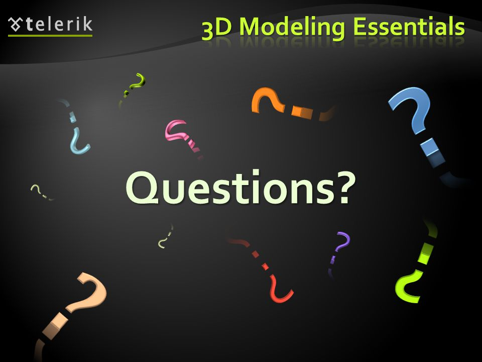3D Modeling Essentials Questions