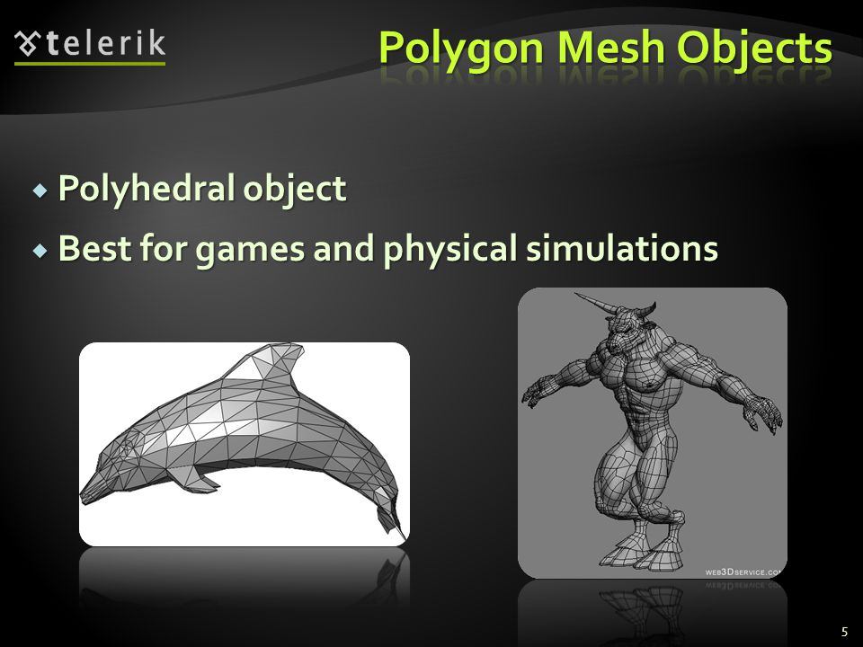 Polygon Mesh Objects Polyhedral object