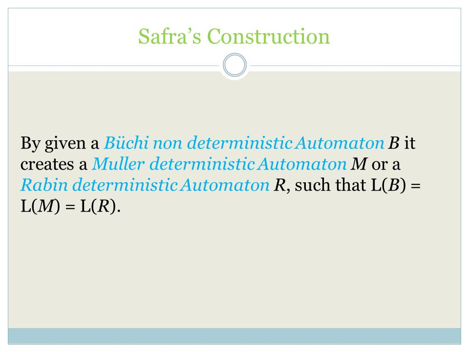 Safra's Construction