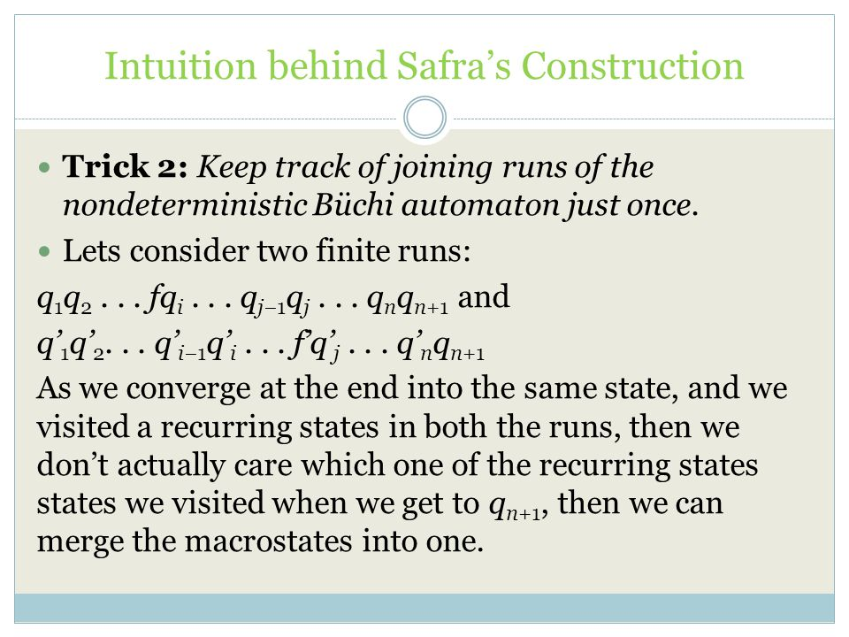 Intuition behind Safra's Construction