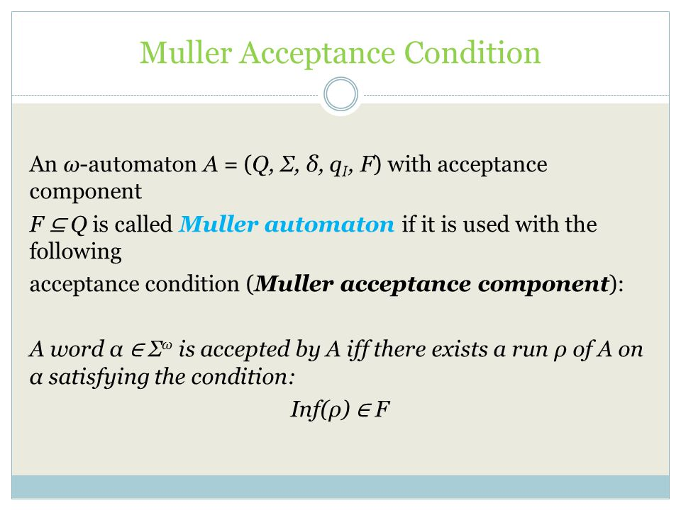 Muller Acceptance Condition