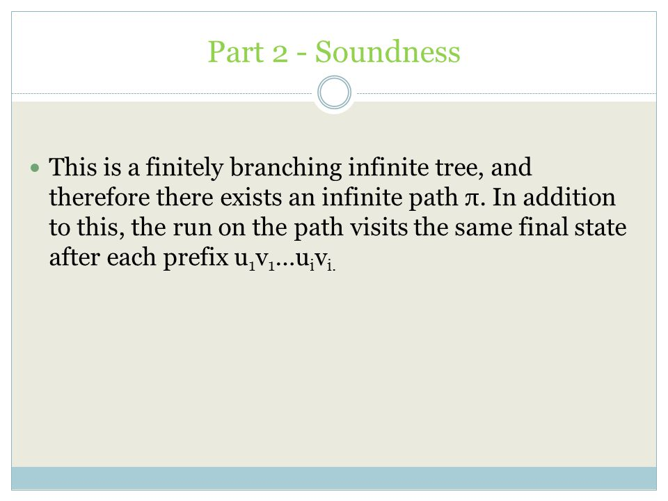 Part 2 - Soundness