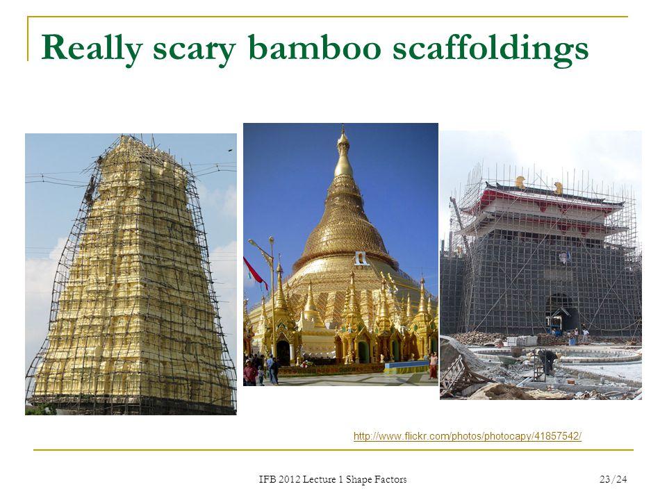 Really scary bamboo scaffoldings