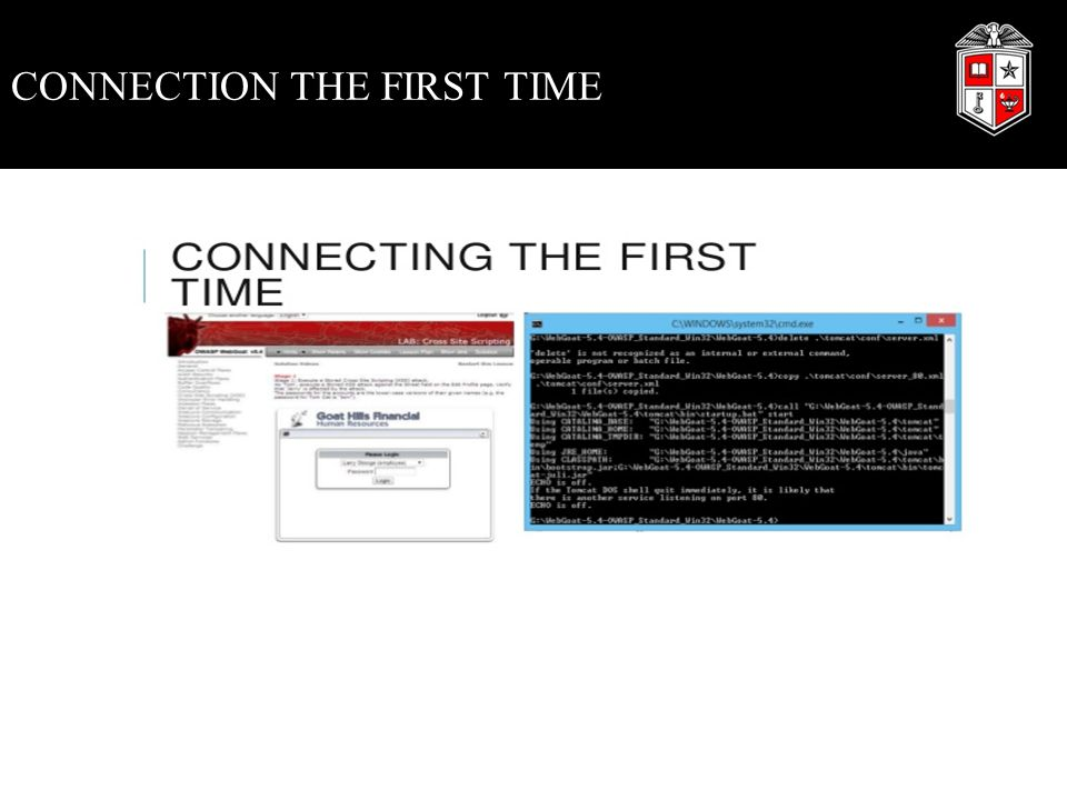 CONNECTION THE FIRST TIME