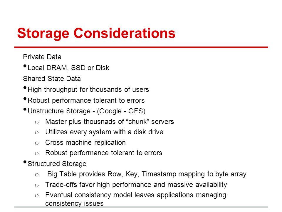 Storage Considerations