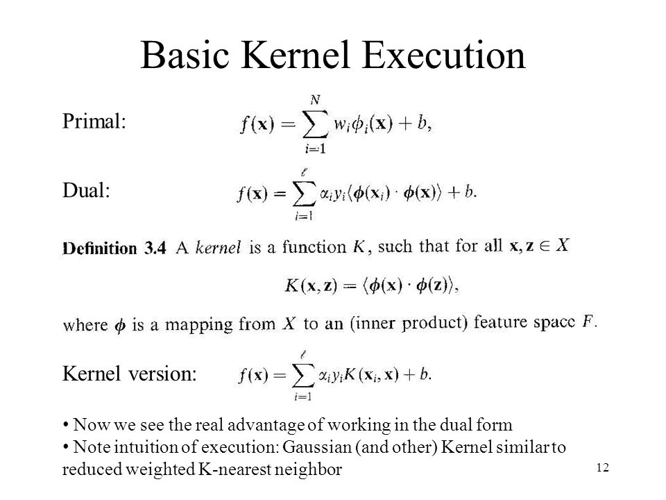 Feature Space and Kernel Functions