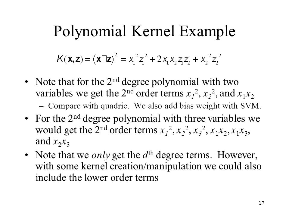 Polynomial Kernel Example