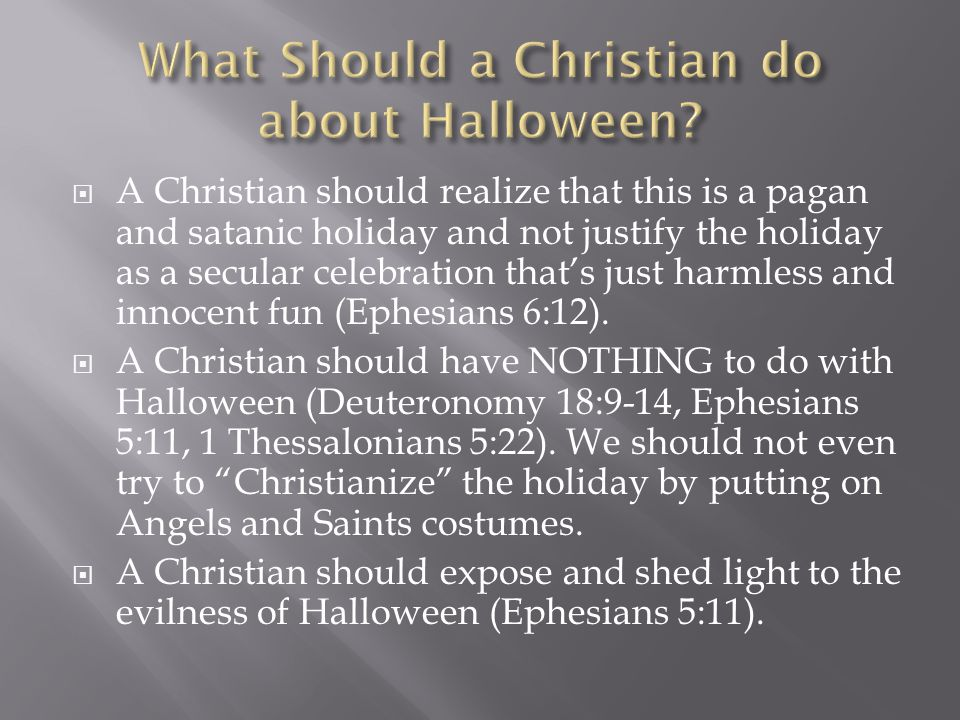 What Should a Christian do about Halloween