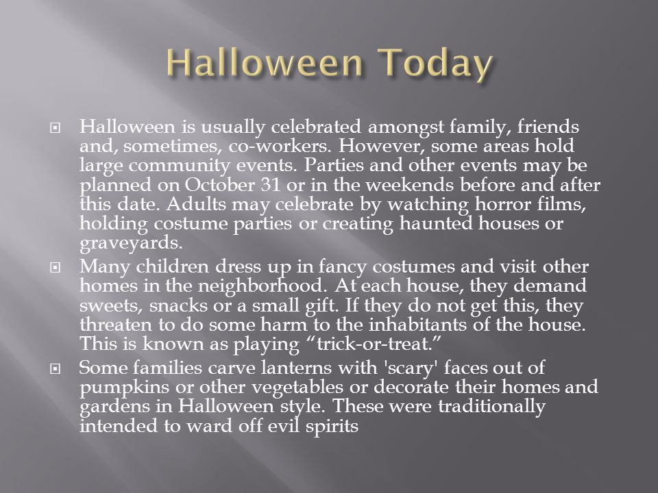 Halloween Today