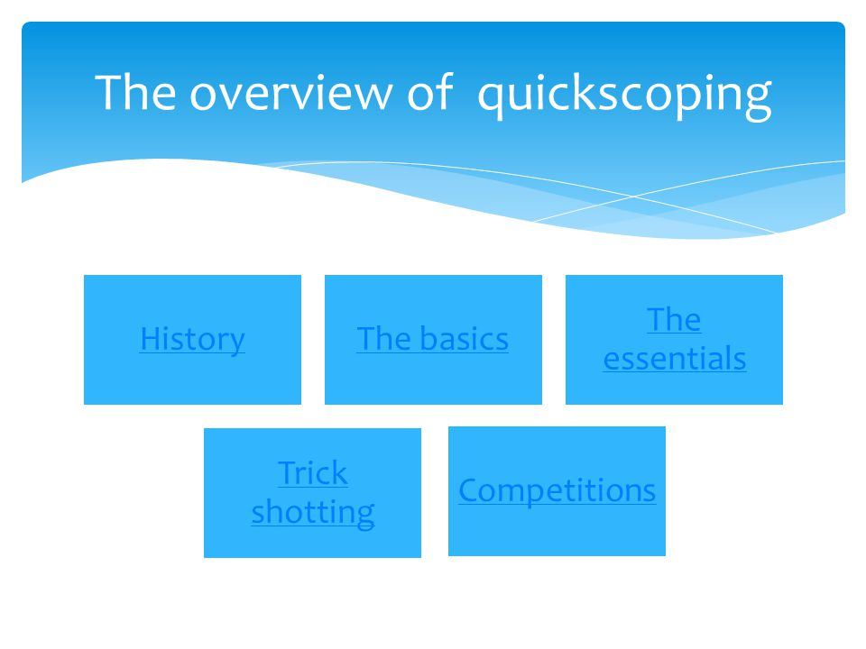 The overview of quickscoping