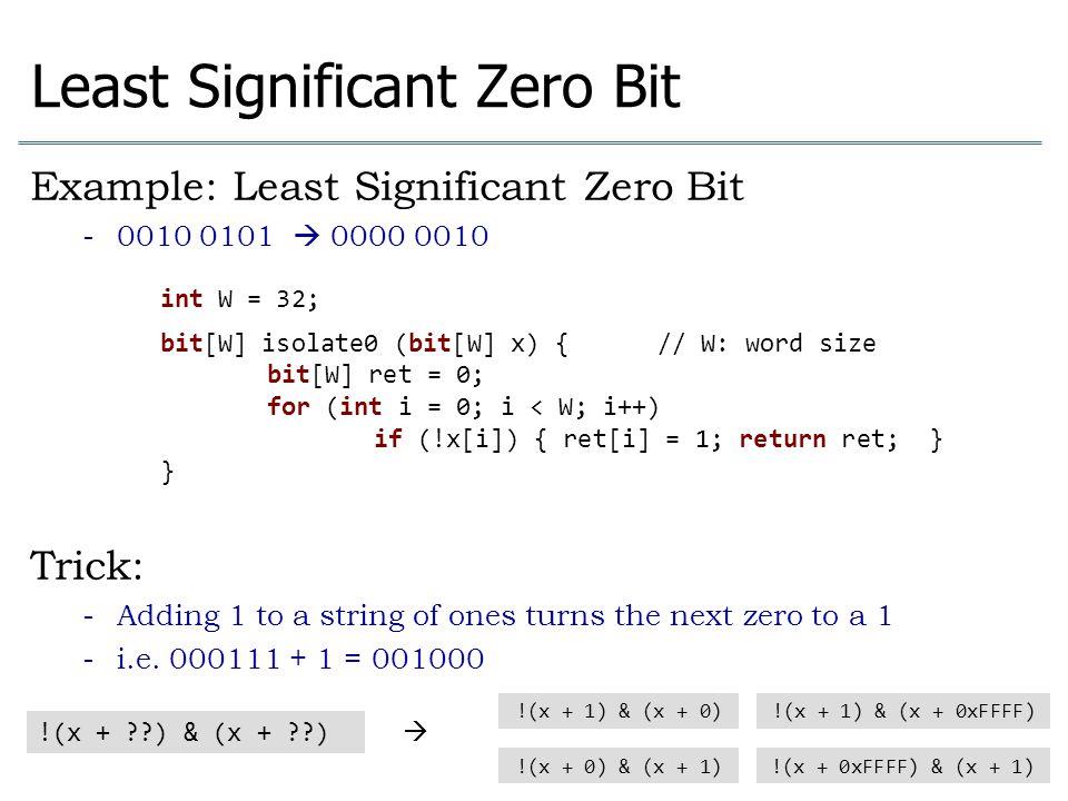 Least Significant Zero Bit