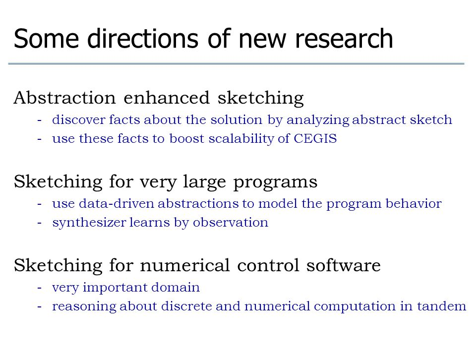 Some directions of new research