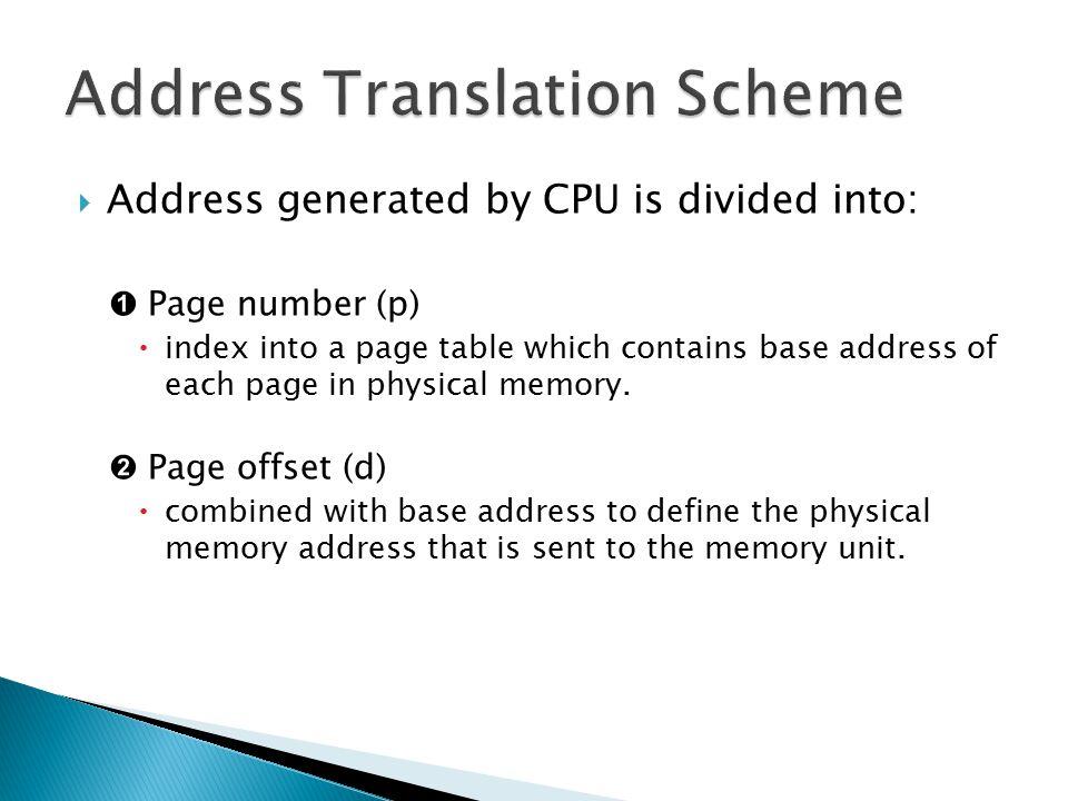 Address Translation Scheme