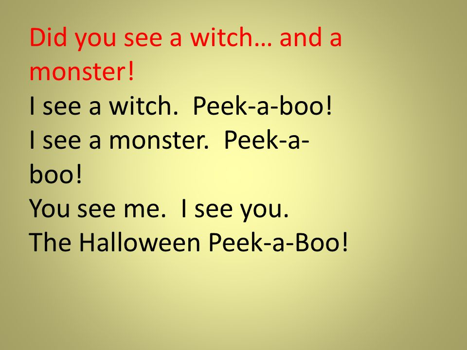 Did you see a witch… and a monster!