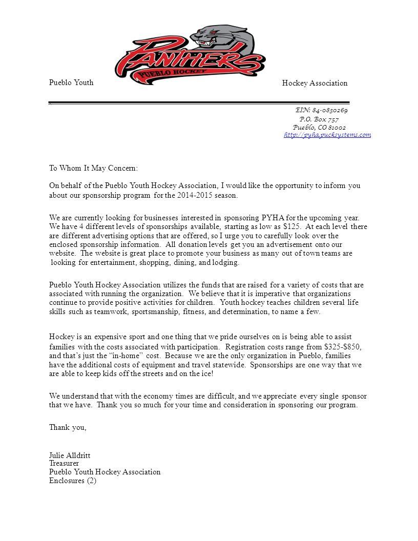 Pueblo Youth -. Hockey Association. EIN: 84-0830269. P.O. Box 757. Pueblo, CO 81002. http://pyha.pucksystems.com.