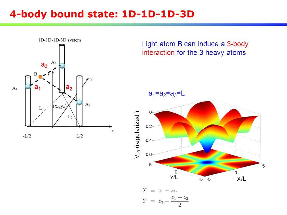 4-body bound state: 1D-1D-1D-3D