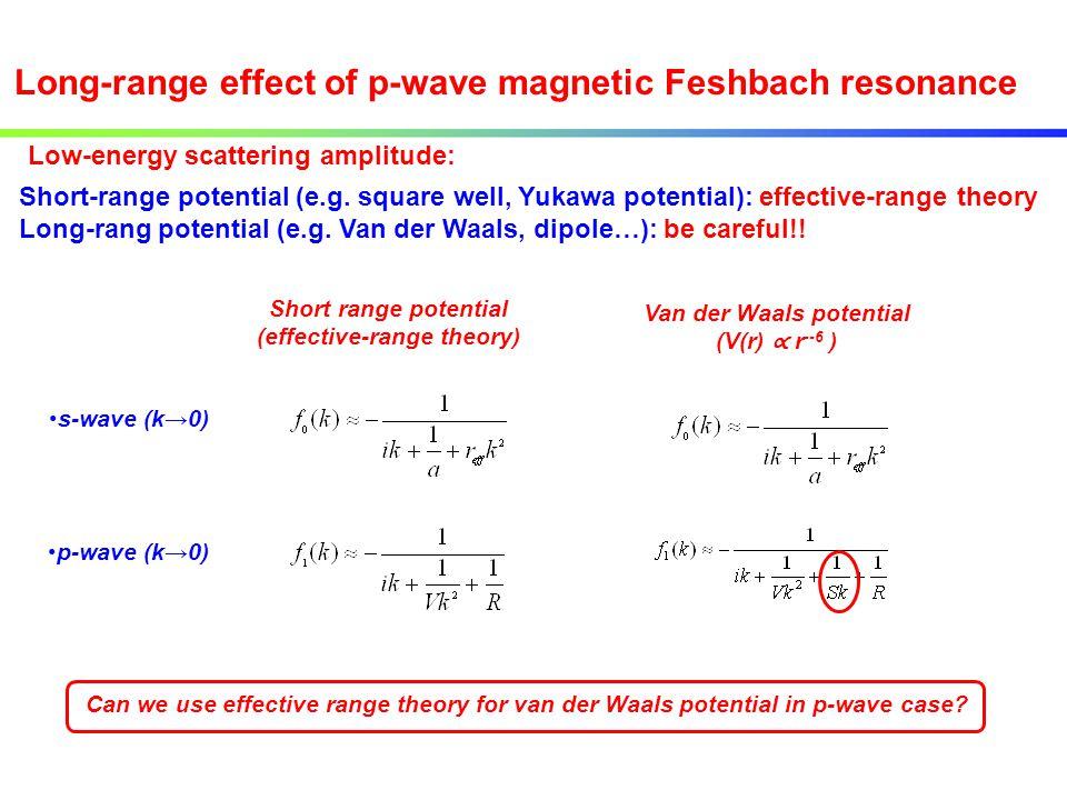 (effective-range theory) Van der Waals potential