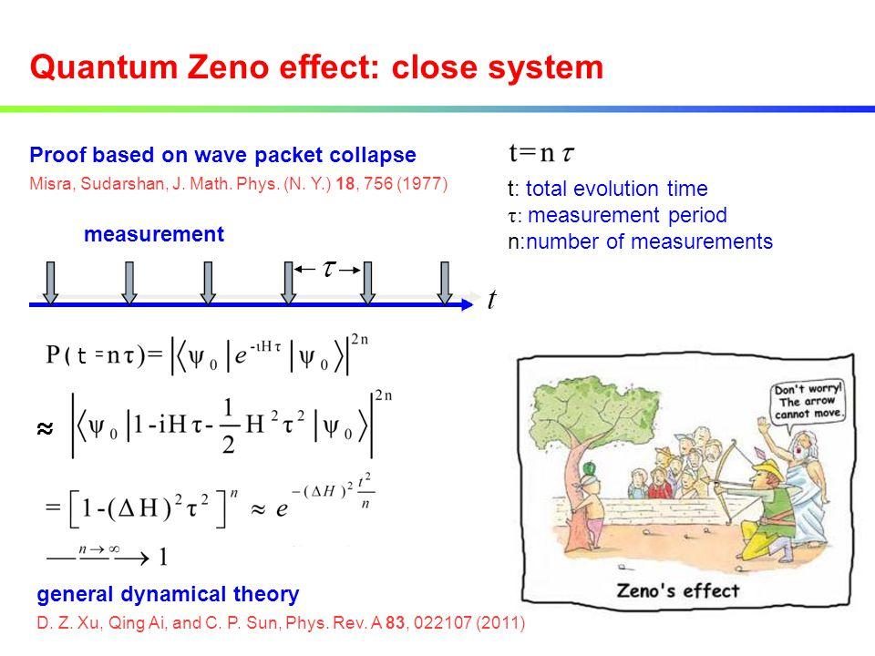 Quantum Zeno effect: close system