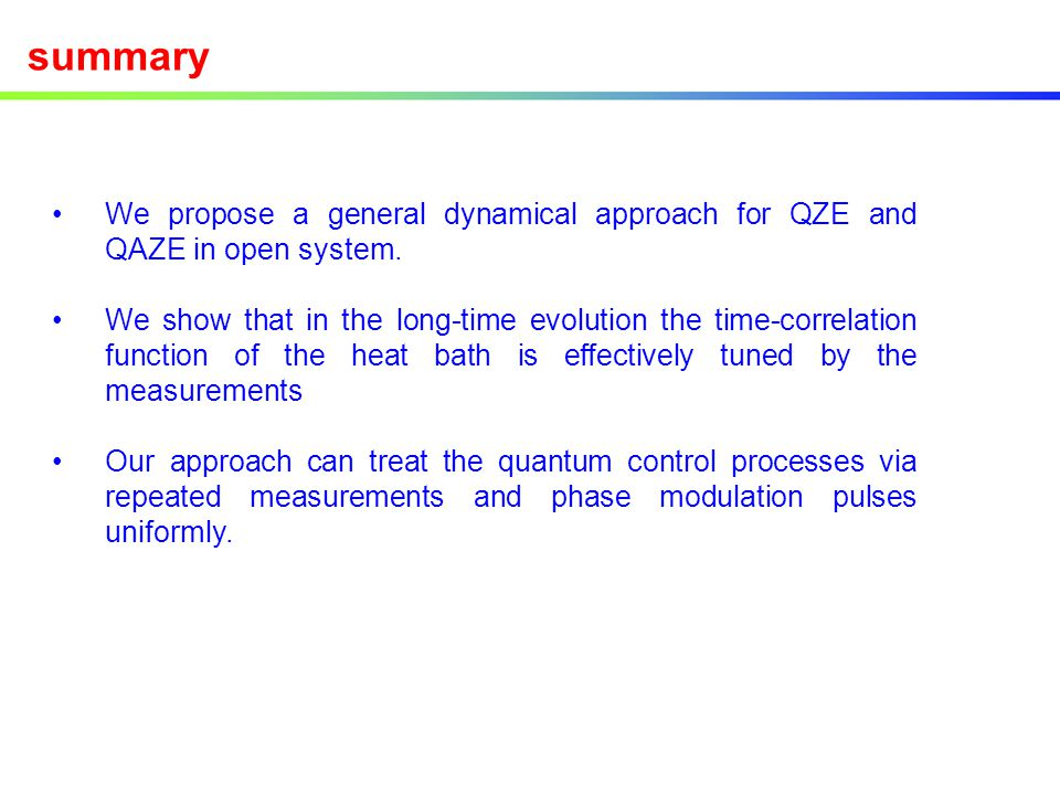 summary We propose a general dynamical approach for QZE and QAZE in open system.