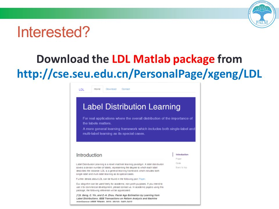 Download the LDL Matlab package from