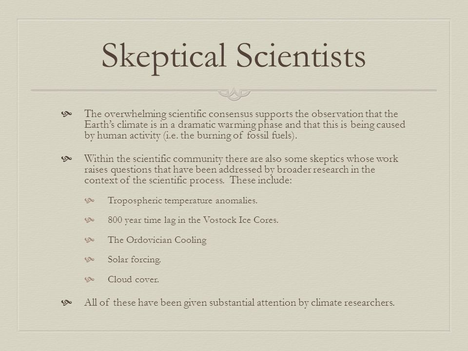 Skeptical Scientists