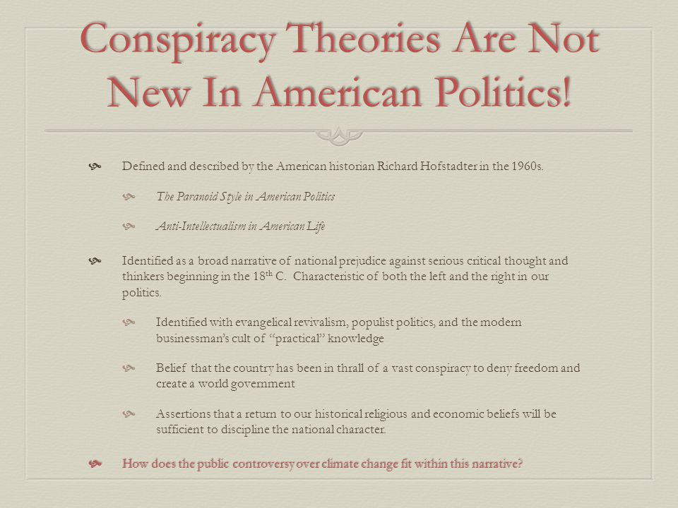 Conspiracy Theories Are Not New In American Politics!