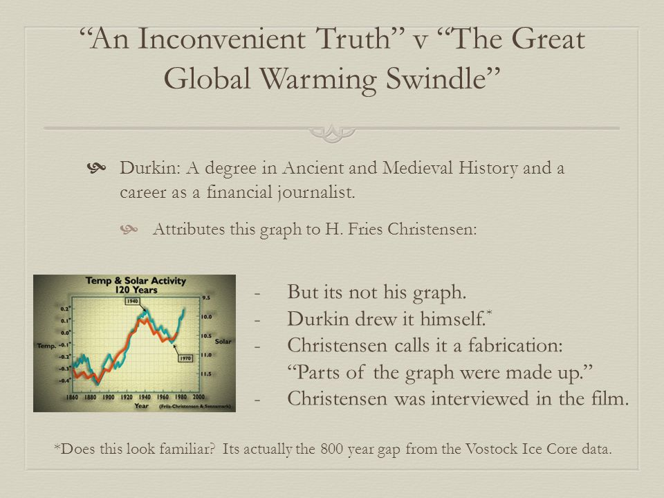 An Inconvenient Truth v The Great Global Warming Swindle