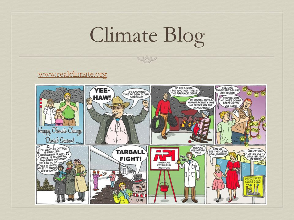 Climate Blog www.realclimate.org