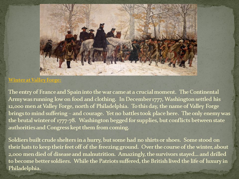 Winter at Valley Forge: