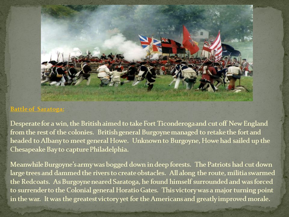 Battle of Saratoga: