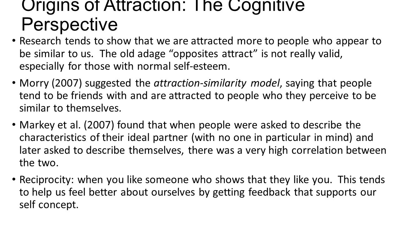 Origins of Attraction: The Cognitive Perspective