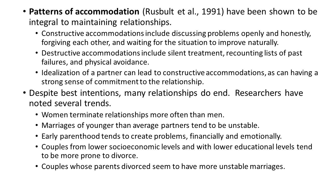 Patterns of accommodation (Rusbult et al
