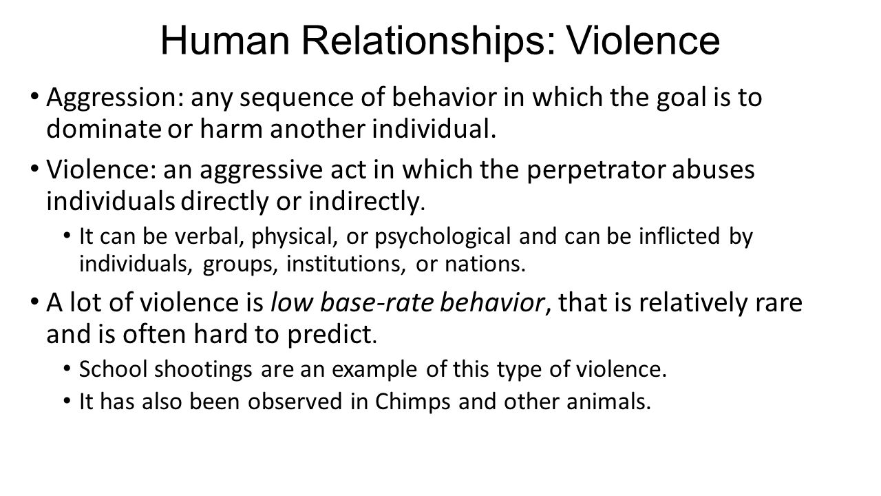 Human Relationships: Violence